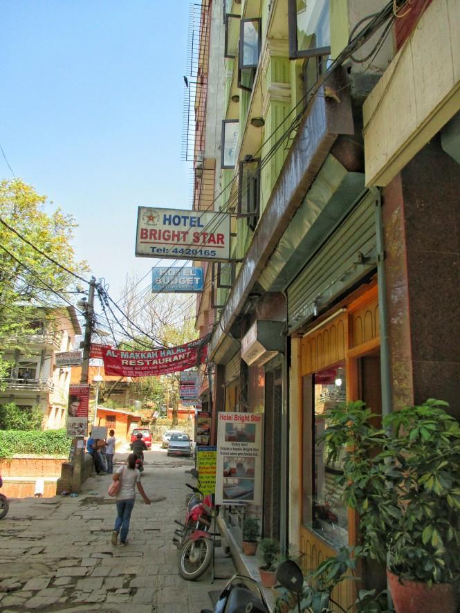 Hotel Bright Star on its quiet street