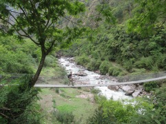 Bridge across the Langtang