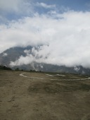 The helipad at Dhunche. Only slightly better than those at Bamboo