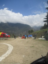 Taking off from Dhunche