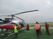 After we got off, a group of monks got on our heliccopter