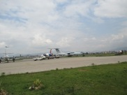 The large one belongs to the Chinese Air Force