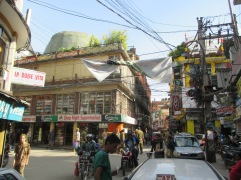 Stores in other parts of Thamel were beginning to re-open