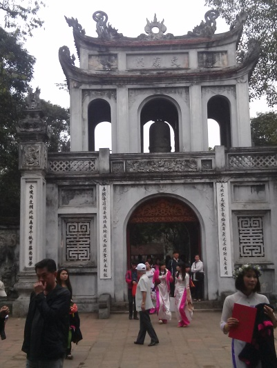 The main entrance to the Temple of Literature