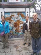 Ngoc Son Temple murals