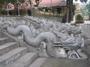 Dragon staircase, one of the few ancient features not destroyed by the French when they used the complex