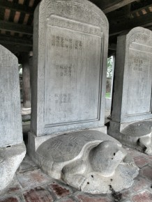 Each stele lists the scholars from one year