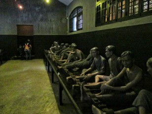 Mannequins set up in one of the large cells