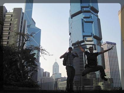 Hong Kong skyline jelfie