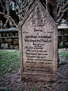 a grave in the Protestant Cemetary