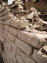 Some of the adobe brick work