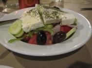 Greek salad in Sparta