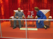 Reconstruction of Deng Xiaoping meeting with Margaret Thatcher during talks about ceding control to China