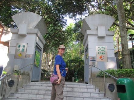 Entering the park