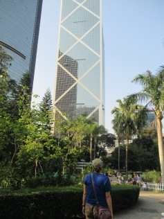 Skyscrapers towering over Hong Kong Park