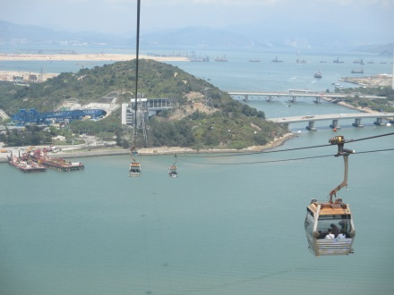 Breathtaking views from the cable car