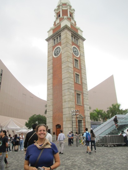 Historic clock tower at Kowloon ferry terminal