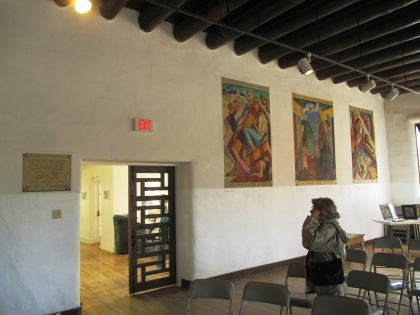 Murals inside the old courthouse