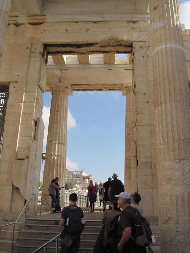 The Propylaea is still the main entrance for tourists
