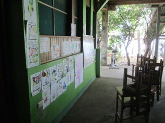 Classroom set up outside our room