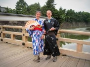 "In our ""30-second kimonos"""