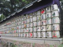 Barrels of sake given as tribute