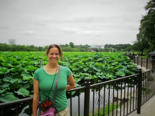Shinobazu Pond was filled with lotus in bloom