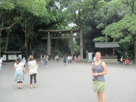 One of the large wooden gates along the path to the shrine