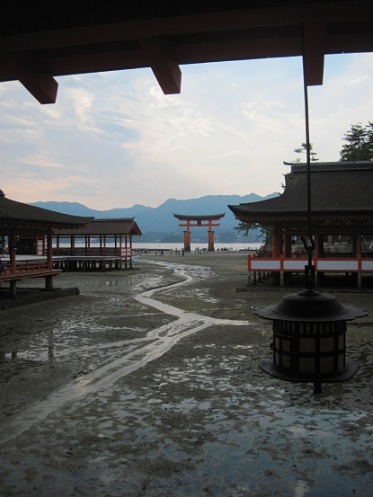 The view of the famous gate from the shrine