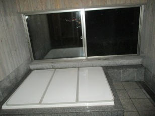 The indoor onsen from the first night