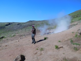 Small steam vent on the first part of the hike
