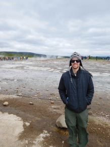 Eric in front of Strokkur