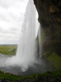 From the left side of the waterfall