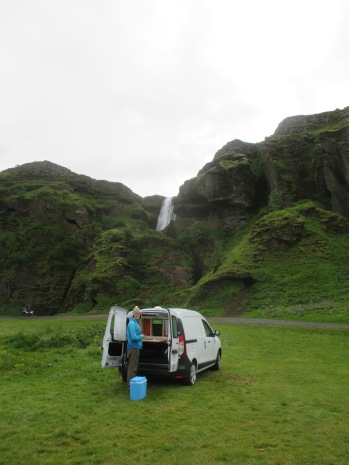 We camped right next to Gljúfrabúi - you can see the non-hidden part here