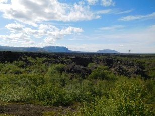 Looking down on Dimmuborgir
