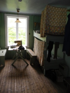 A recreation of the living quarters for the herring girls