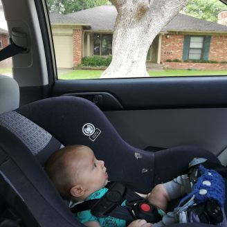 Borrowed carseat for the win!