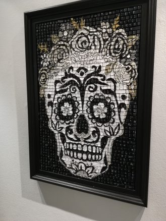 Mosaic skull made from...