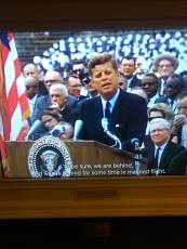 "Picture of JFK's famous speech at our alma mater. ""Why does Rice play Texas?"""