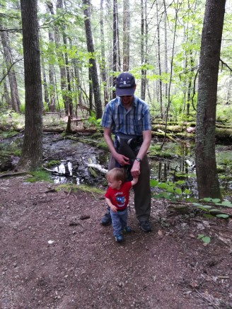 Kiddo enjoyed some hiking on his own